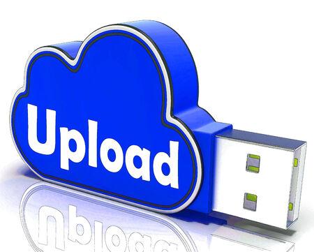 uploading: Upload Memory Showing Uploading Files To Cloud