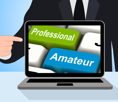 beginner: Professional Amateur Keys Display beginner en ervaren Stockfoto