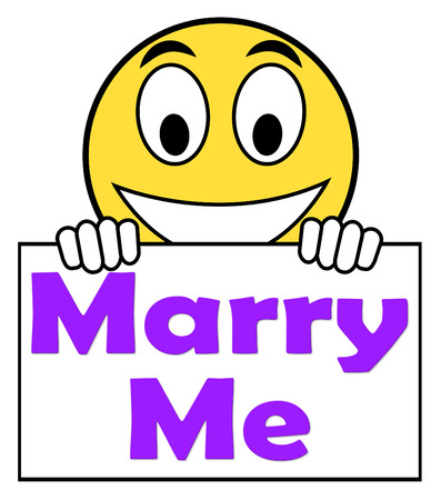 Marry Me On Phone Meaning Wedding Proposal Stock Photo Picture And