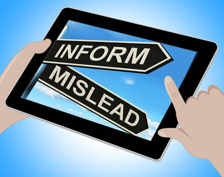 mislead: Inform Mislead Tablet Meaning Let Know Or Misguide