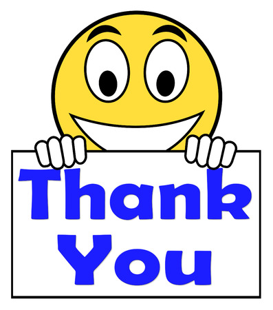 Thank You On Sign Showing Gratitude Texts And Appreciation