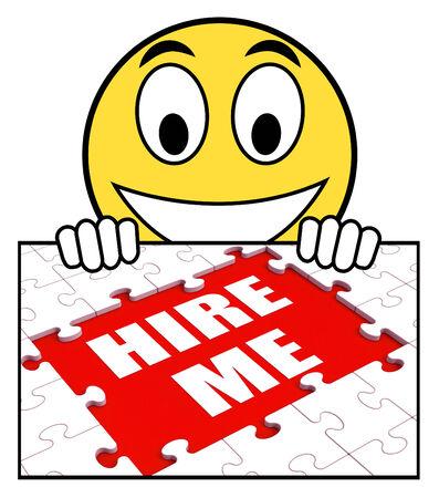 freiberufler: Stellen Sie mich Zeichen Bedeutung Job Bewerber oder Freelancer