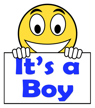 its a boy: Its A Boy On Sign Showing Newborn Male Baby