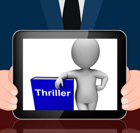 thriller: Thriller Book And Character Displaying Books About Action Adventure  Mystery