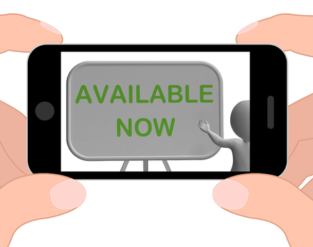 availability: Available Now Phone Showing Availability And In Stock