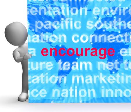 promover: Incentive Nuvem da palavra Entrar Mostrando Promova impulso encorajados Banco de Imagens