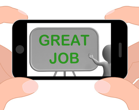 affirmation: Great Job Phone Meaning Affirmation And Approval