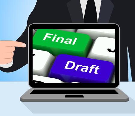 rewriting: Final Draft Keys Displaying Editing And Rewriting Document