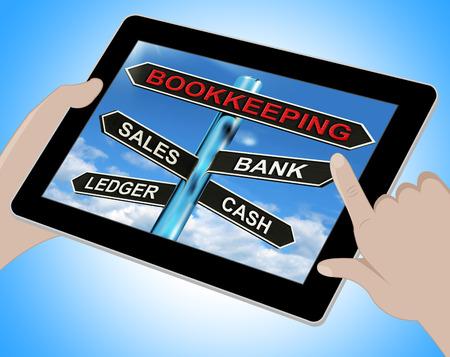 ledger: Bookkeeping Tablet Meaning Sales Ledger Bank And Cash