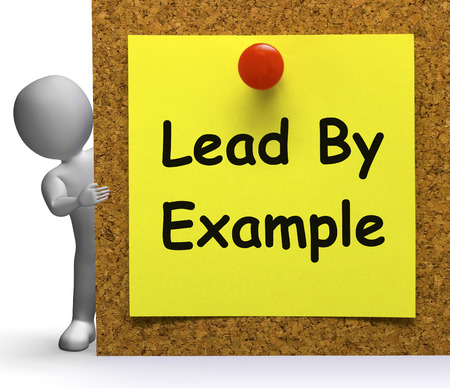 Lead By Example Note Meaning Mentor Or Inspire Stock Photo