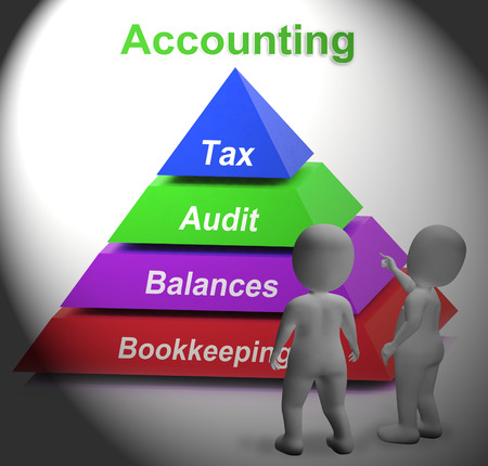 auditing: Accounting Pyramid Meaning Paying Taxes Auditing Or Bookkeeping