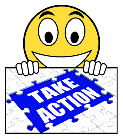 urge: Take Action Sign Showing Motivate To Do Something