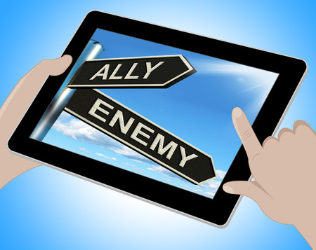 adversary: Ally Enemy Tablet Showing Friend Or Adversary