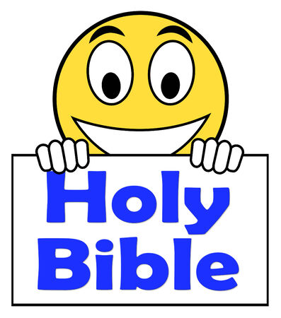 faithfulness: Holy Bible On Sign Showing Religious Book