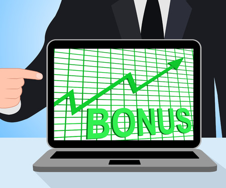 perk: Bonus Chart Graph Displaying Increase Reward Or Perk Stock Photo