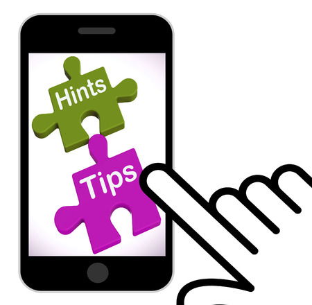 hints: Hints Tips Puzzle Displaying Suggestions And Assistance