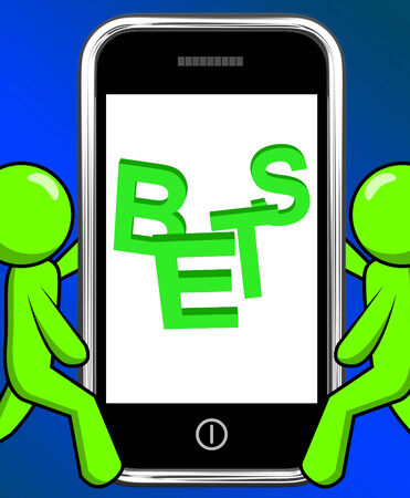 bets: Bets On Phone Displaying Online Or Internet Gambling