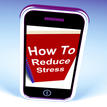 reducing: How to Reduce Stress on Phone Showing Reducing Tension
