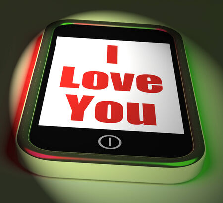 adore: I Love You On Phone Displaying Adore Romance