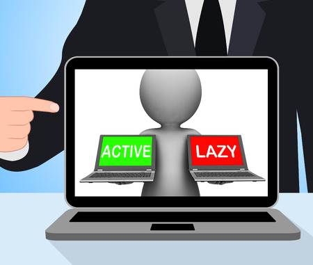 inaction: Active Lazy Laptops Displaying Action Or Inaction