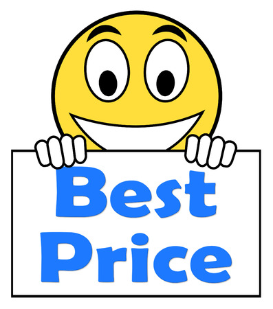 cheapest: Best Price On Sign Showing Promotion Offer Or Discount Stock Photo