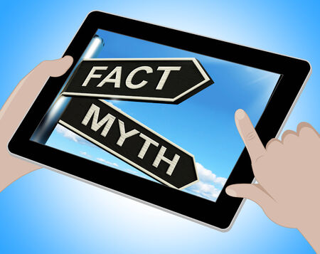 Fact Myth Tablet Meaning Correct Or Incorrect Information photo