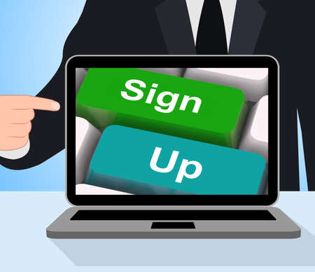 signup: Sign Up Computer Meaning Registration And Membership