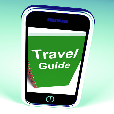 travelled: Travel Guide Phone Representing Advice on Traveling