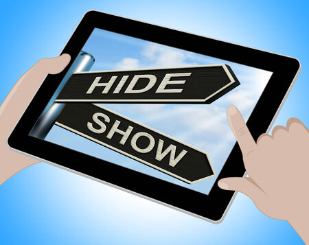 obscured: Hide Show Tablet Meaning Obscured And Visible