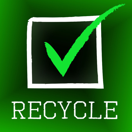 Tick Recycle Representing Eco Friendly And Ok photo