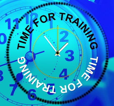 instructing: Time For Training Indicating Instructing Instruction And Coaching