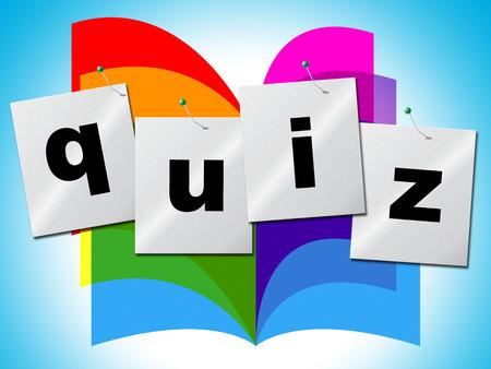 Questions Quiz Représentant informations demandées et de puzzle