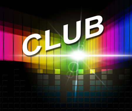 dancing club: Music Club Indicating Disco Dancing And Recreation Stock Photo