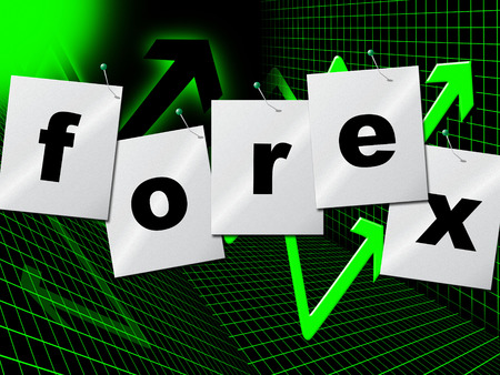 currency exchange: Forex Graph Showing Currency Exchange And Fx