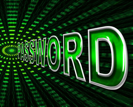 logon: Passwords Password Meaning Log In And Accessible Stock Photo