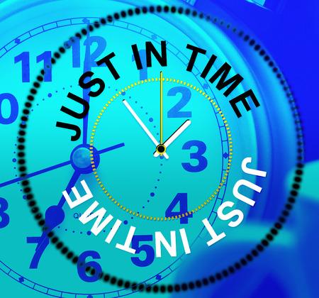 eventually: Just In Time Rappresentare At Last e Ritardo