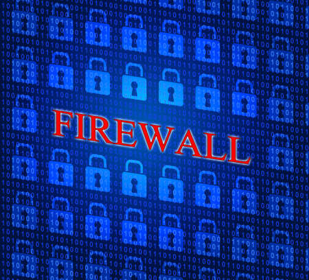 no access: Security Firewall Representing No Access And Protected Stock Photo