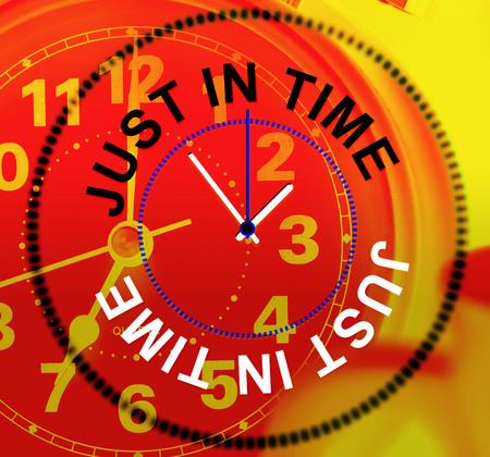 eventually: Just In Time indicazione, dopo tutto e fine Archivio Fotografico