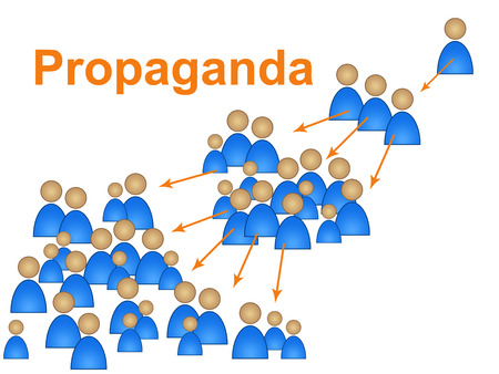 persuaded: Propaganda Influence Showing Control Authority And Manipulate