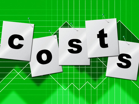 outgoings: Costs Expenses Showing Business Money And Buy