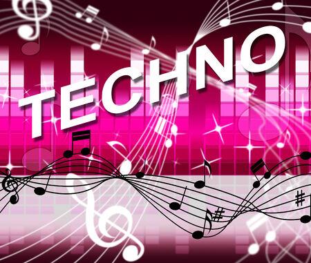 soundtrack: Techno Music Indicating Sound Track And Celebration