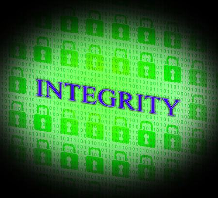 uprightness: Integrity Data Showing Facts Information And Virtue