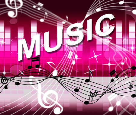 soundtrack: Music Notes Showing Bass Clef And Musical Stock Photo