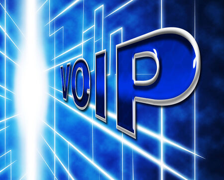 telephony: Telephony Voip Representing Voice Over Broadband And Communication Stock Photo