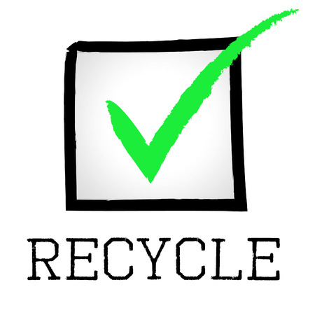 earth friendly: Tick Recycle Meaning Earth Friendly And Correct