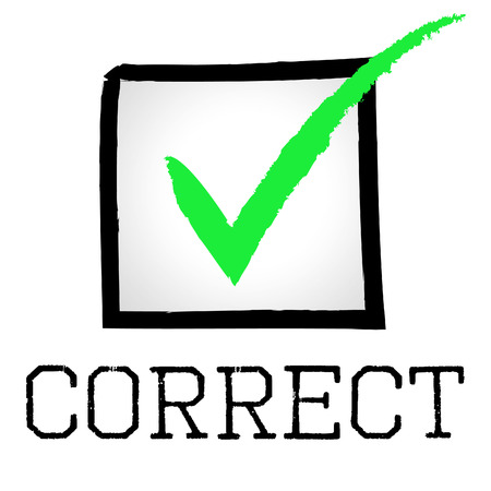 all right: Correct Tick Indicating All Right And Checked