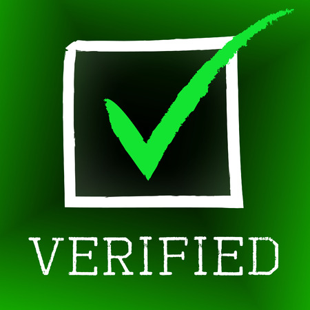 authenticity: Tick Verified Meaning Authenticity Guaranteed And Passed
