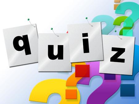Quiz Domande Rappresentare Faq prova e ASK Archivio Fotografico - 31545250