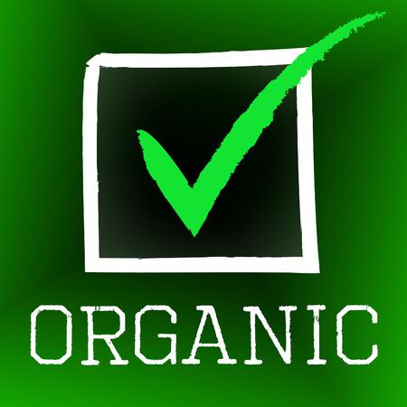 healthful: Org�nica Tick Significado Saludable Marcos Y Natural Foto de archivo