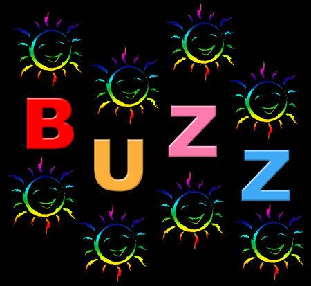 relations publiques: Enfants Buzz repr�sentant des relations publiques et des enfants